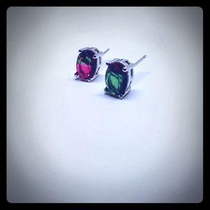 Bi Color Tourmaline Earrings